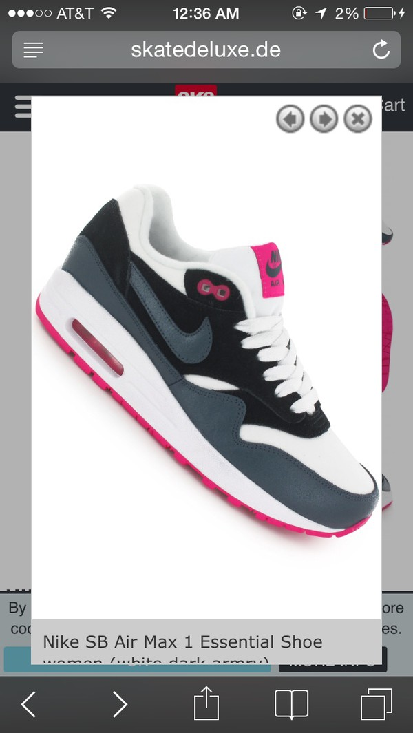 shoes black white pink and grey nike air max 1