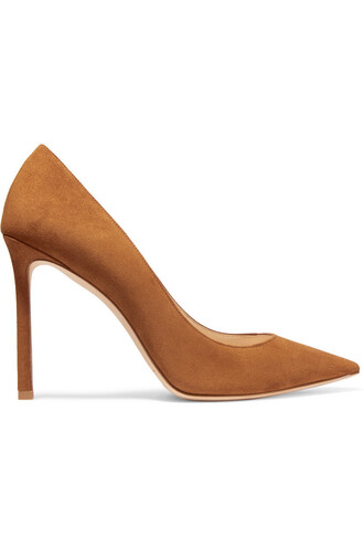 pumps suede tan shoes