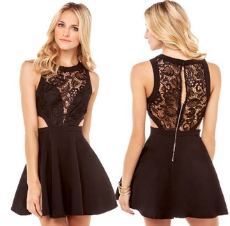 dress girl black dress homecoming