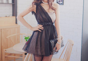 dress,black dre,nude and black,one shoulder