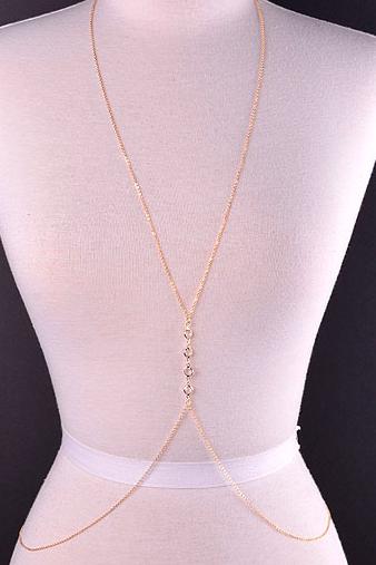 Elegant Crystal Stone Body Chain