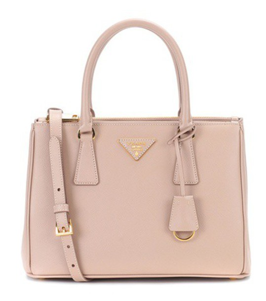 Prada leather beige bag