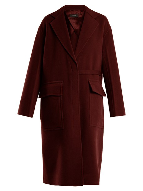 Joseph coat wool burgundy