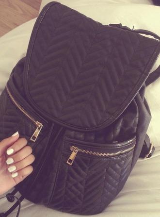 bag backpack black bag details