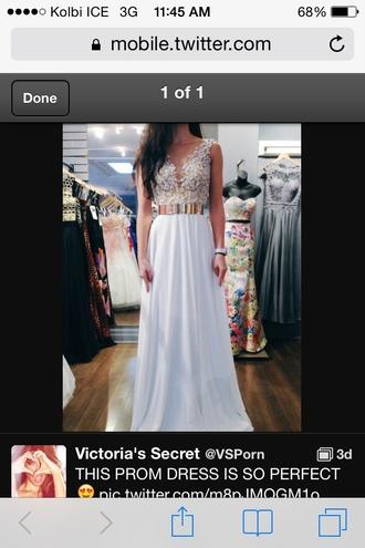 dress white chiffon prom dress a-line dresses