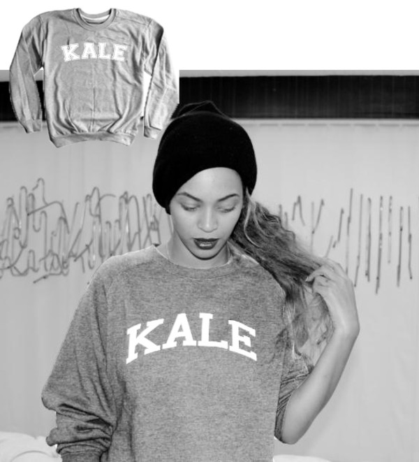 kale kale sweatshirt grey sweater jumper oversized sweater beyonce beyoncé shirt beyonce fashion cute cute sweaters fall outfits graphic tee slogan jumper love this sweater