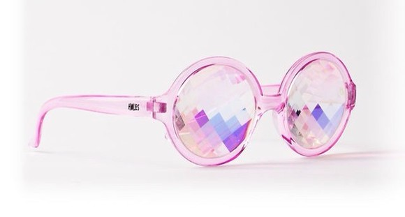 sunglasses pink pink sunglasses holographic kawaii diamond