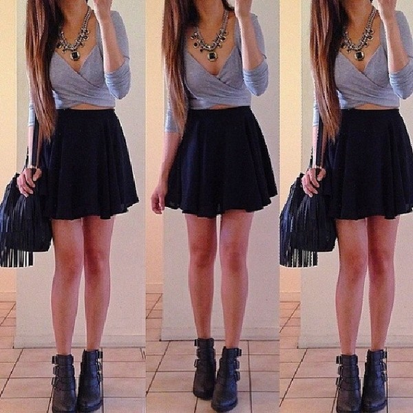 t-shirt skirt jewels bag shoes