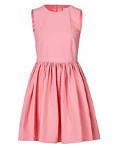 dress,stretch cotton jacquard dress,red valentino