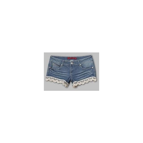 Bongo Junior's Lace Trim Jean Shorts - Polyvore