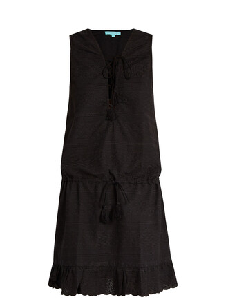 dress embroidered cotton black