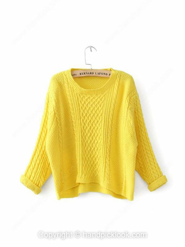 top yellow sweater lemongrass