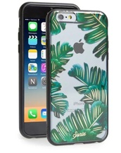 phone cover,green,clear,iphone 6s plus,leaves,summer,iphone cover,sonix