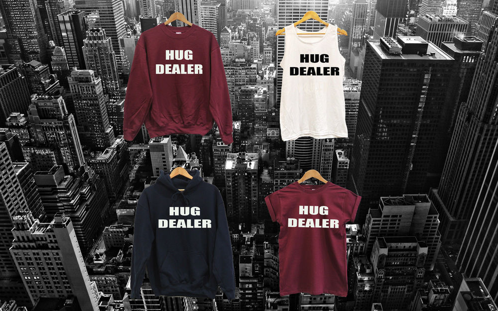 UNISEX HUG DEALER VEST T SHIRT SWEAT TOP or HOODIE wasted youth