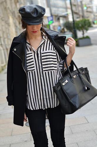 shirt stripes stripe shirt black and white