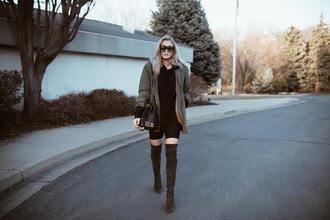 cara loren blogger jacket sweater shorts shoes bag sunglasses