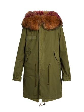 parka fur khaki coat