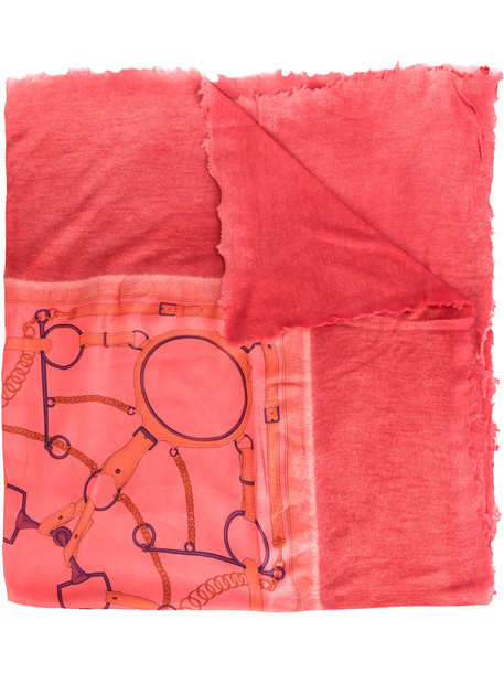 printed scarf women scarf silk yellow orange