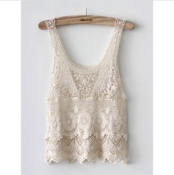 shirt lace cream