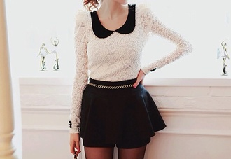 sweater shorts dress black looks like skirt girl hot fashion skirt korean fashion ulzzang