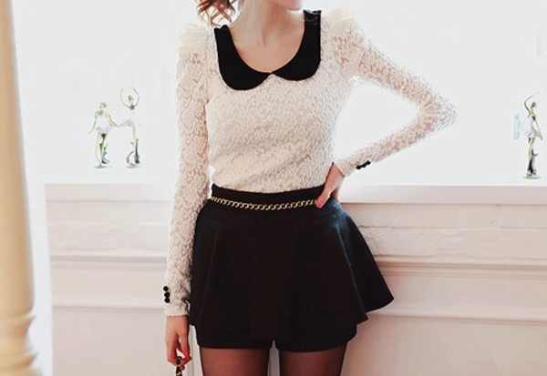 sweater shorts dress black looks like skirt girl hot fashion