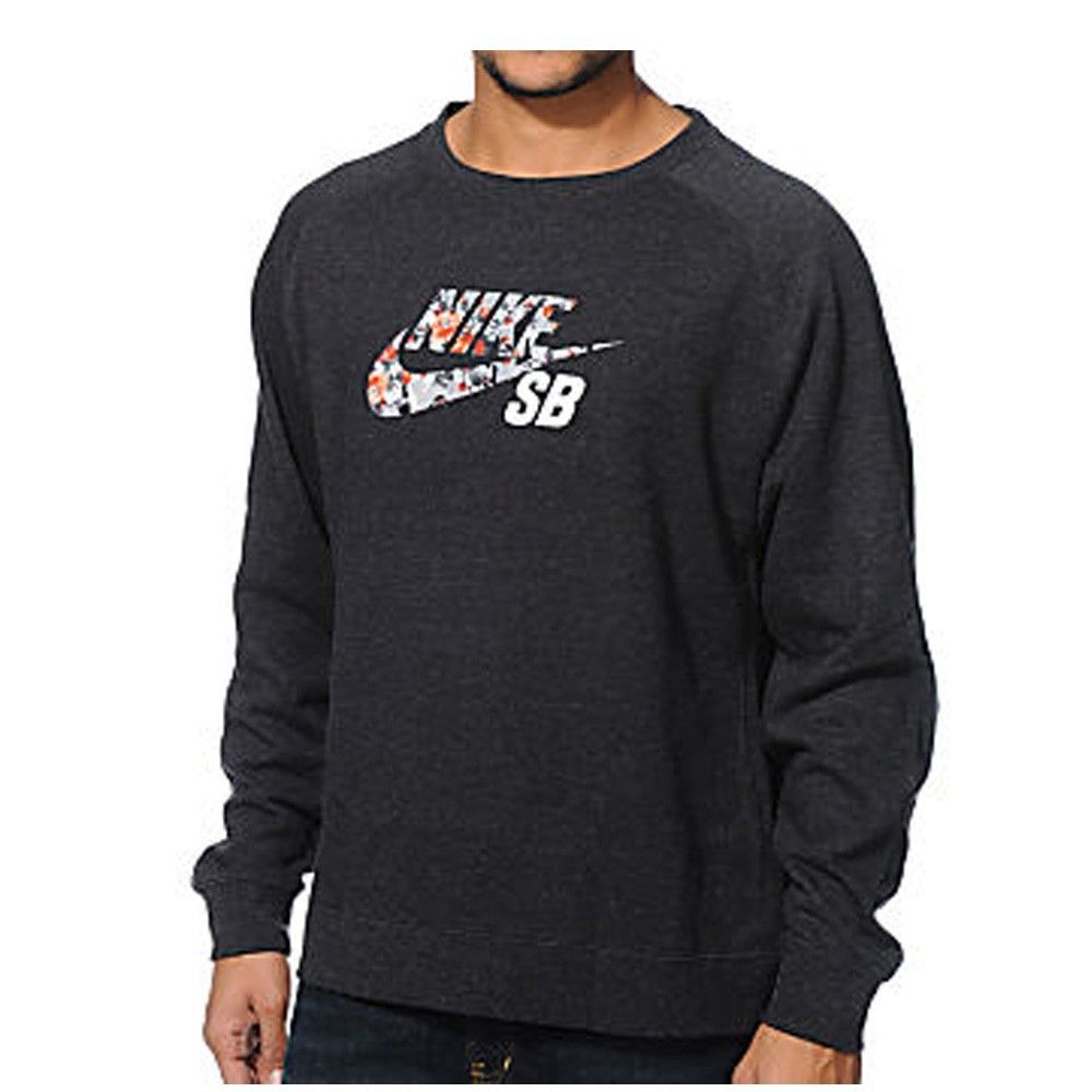 SB MENS DIGI FLORAL FLEECE LONG SLEEVE PULLOVER CREWNECK ...