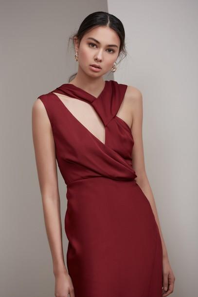 Keepsake gown plum dress