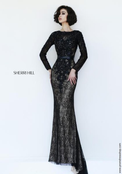 Sway Sherri Hill Prom Dress Evening Dress Long Sleeves Gown