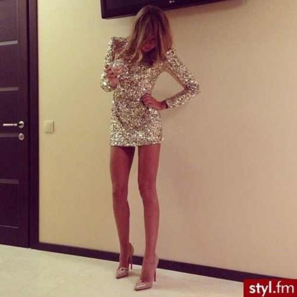 794b0c0193c dress sequin dress sparkly dress glitter dress shiny short beautiful party  magnificent long sleeve dress short