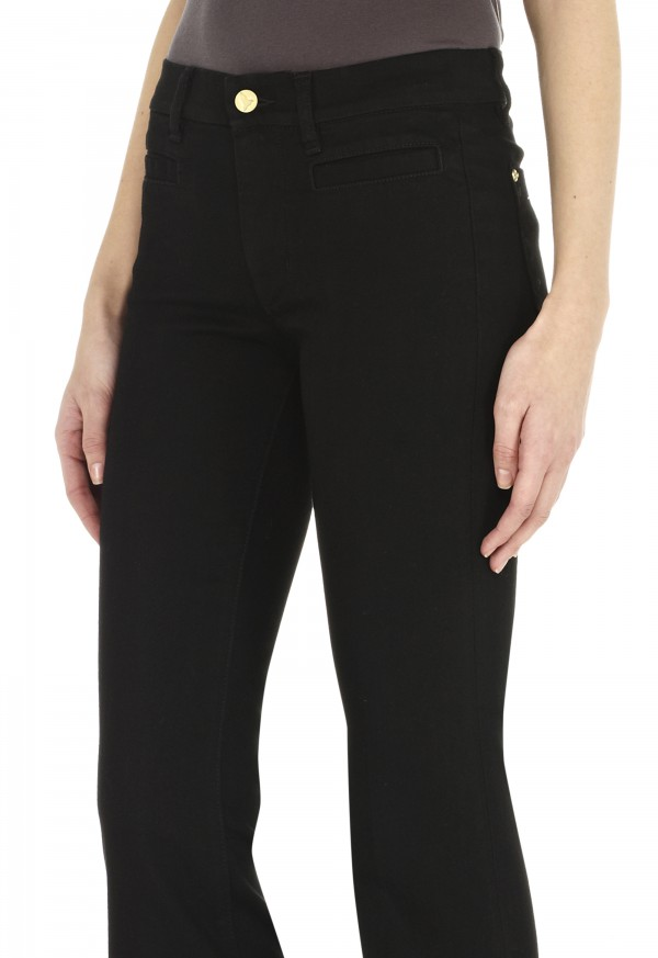 The MARRAKESH Jean - HIGH RISE, KICK FLARE - Black - MiH Jeans