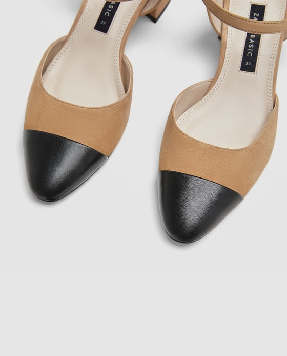 9714c2df33 COMBINED MID - HEEL LEATHER SLINGBACK SHOES-View all-SHOES-WOMAN | ZARA  Macedonia
