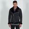 Men's shearling biker jacket