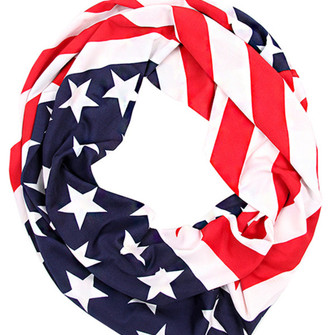 scarf infinity scarf betsy boo's boutique patriotic scarf usa stars and stripes stars red white and blue scarf july 4th scarf red
