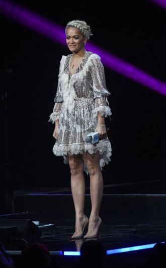 dress spring dress rita ora pumps ruffle lace dress