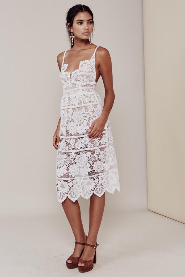 dress shanghaitrends lace dress white lace dress ss16 midi dress white white dress