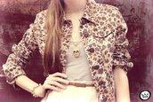 jacket,leopard print,beige,jewels