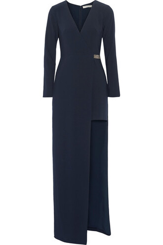 gown embellished navy dress