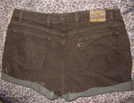 Levi's Vtg USA Jeans Brown High Waist Cut Off Denim Festival Shorts 3X 4X W46 | eBay