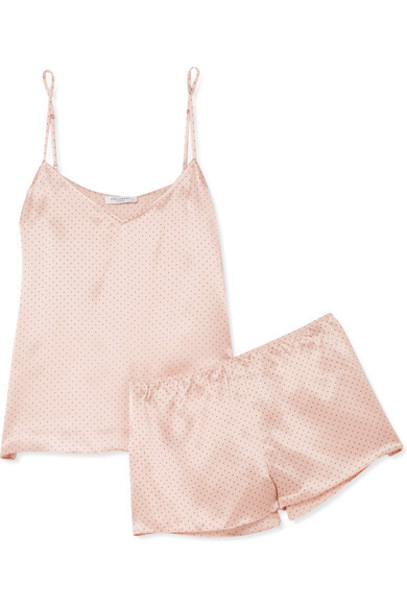 Equipment satin pajama set silk satin blush underwear