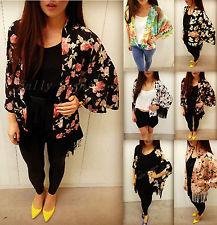 Fringed Kimono Vtg Floral Print Kimono Cardigan Tassel Kimono Top ...