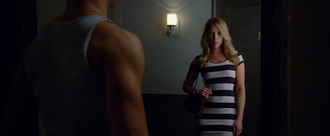dress bodycon dress striped dress don jon movies celebrity celebrity style bodycon stripes scarlett johansson