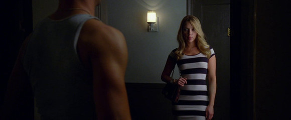 dress striped dress stripes bodycon dresses striped dresses don jon movies celebrities celebrity celebrity style bodycon celebrity dresses scarlett johansson