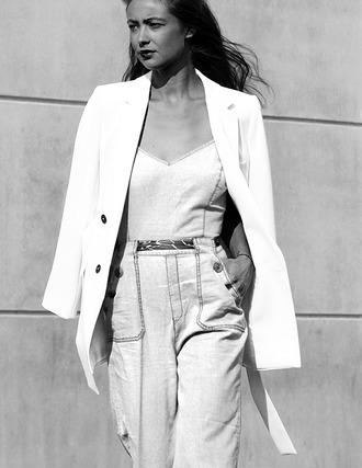mode d'amour blogger zara white blazer