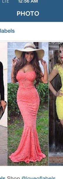 dress coral long