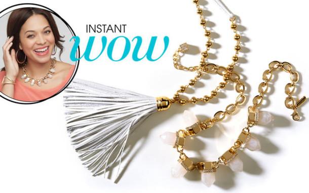 jewels gold gems necklace tassel