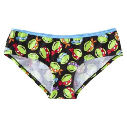 Women's Teenage Mutant Ninja Turtles Panty - Black : Target
