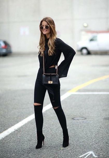 shoes boots blouse