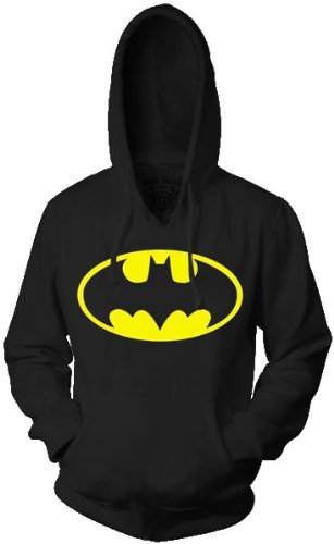 Batman Classic Logo Black Adult Hoodie Sweatshirt on Wanelo