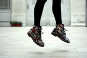 flowers,DrMartens,multicolor,shoes