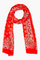 Saint laurent red paisley silk cashmere scarf